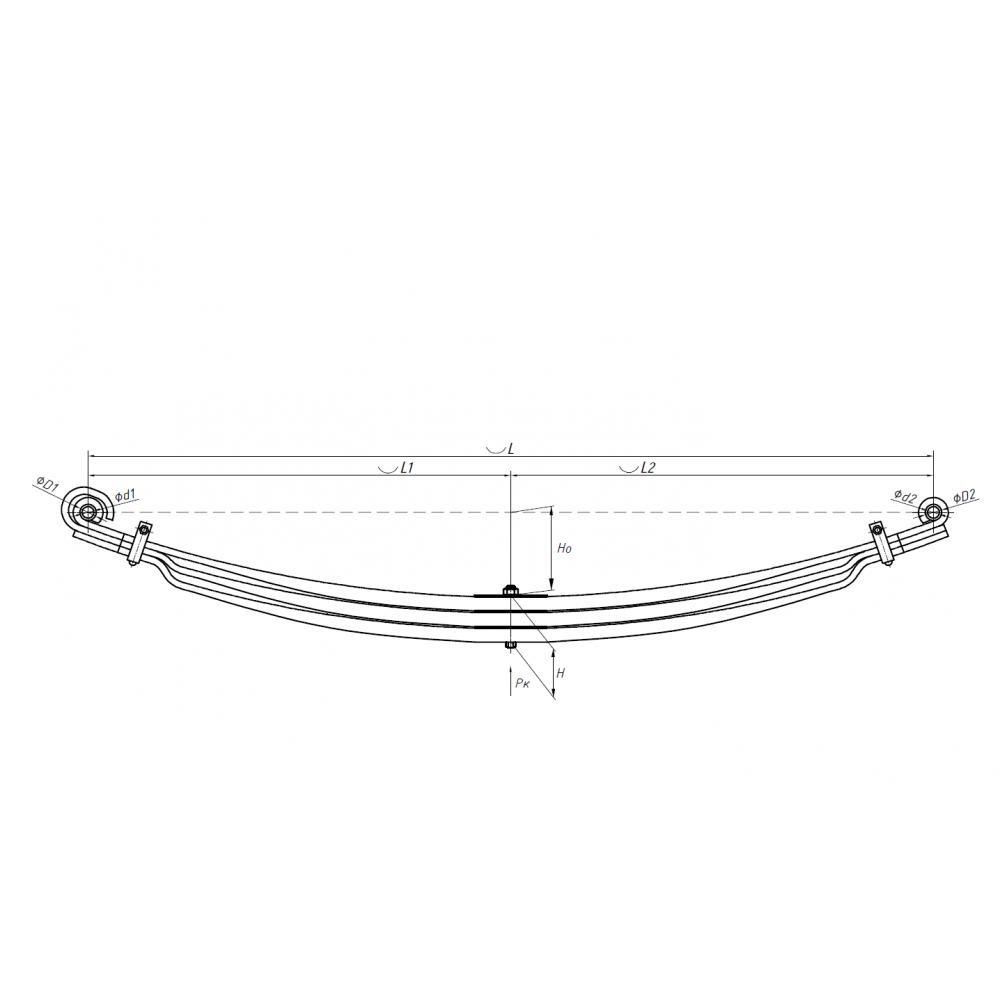 Рессора Scania 902903 WW (аналог Weweler) F010T179ZA75, 690004663