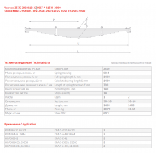 3 лист ресс Краз 255Б-2902076 перед, 690000363