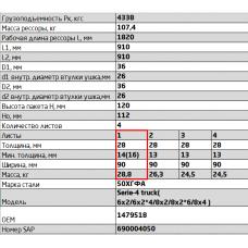 1 лист ресс Scania 902804SC-2902101-10 перед, 690004733