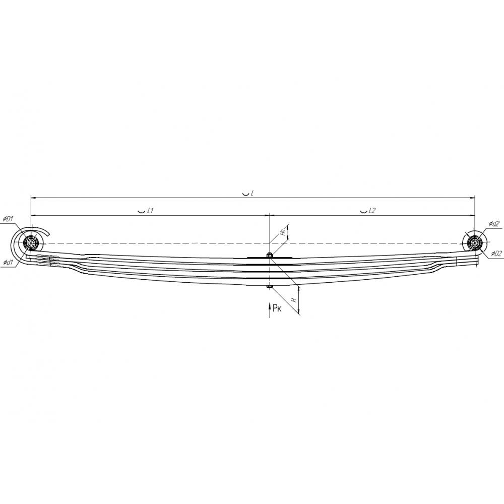 рессора Mercedes 902604MS-2902012-01-10 перед, 690004971