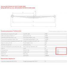 2 лист ресс УАЗ 469-2912102-03 зад, 690000316