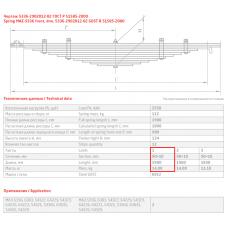 1 лист ресс МАЗ 5336-2902101 перед, 690000075