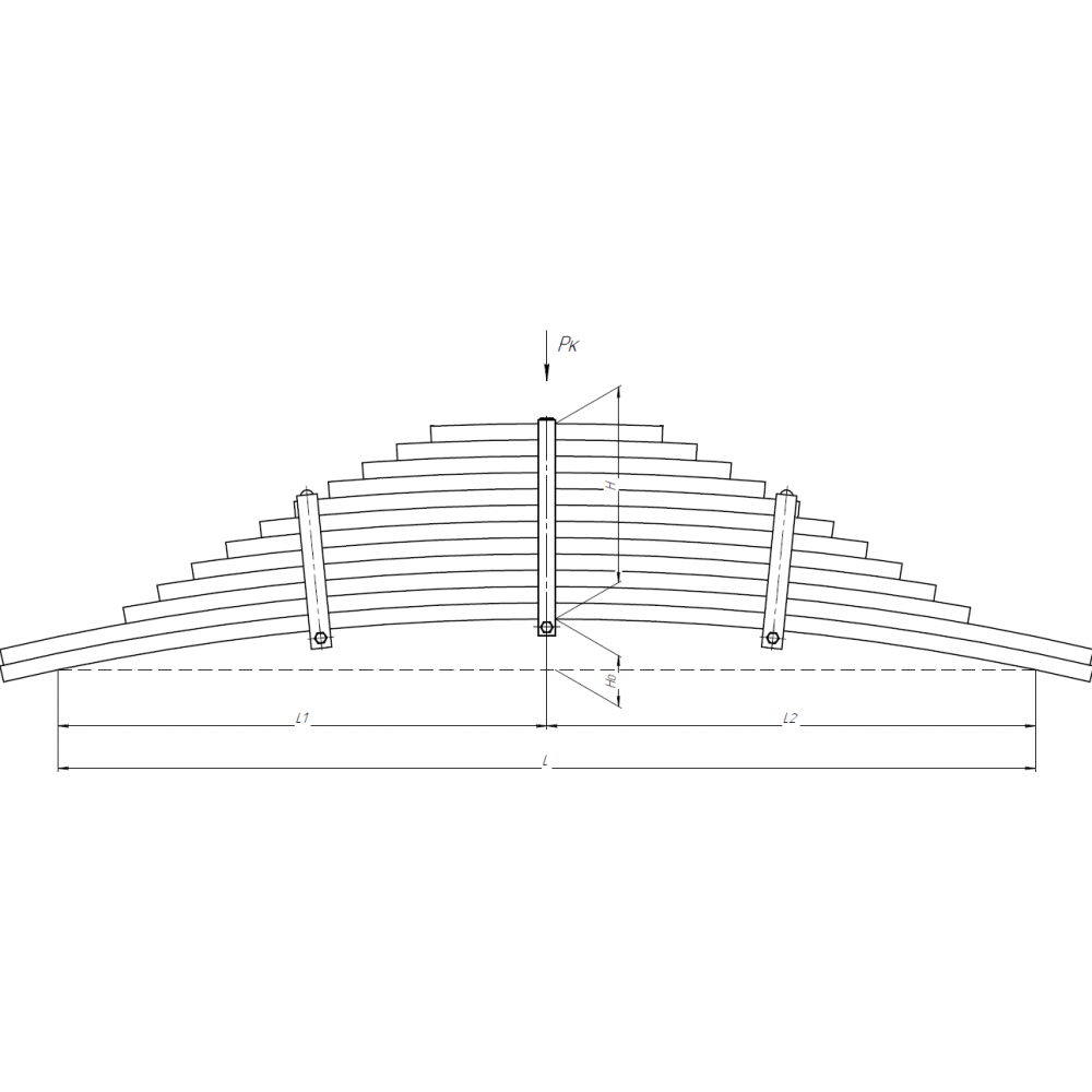 рессора Камаз 65801-2912012 зад (12 лист, 90 ширина), 690003301