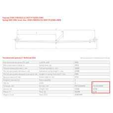 2 лист ресс ГАЗель 3302-2902050-12-10 мл укороч.с/х перед, 690004235