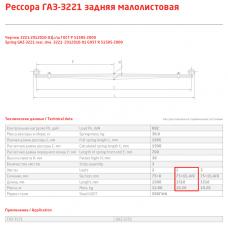 2 лист ресс ГАЗель 3221-2912102 зад, 690000442