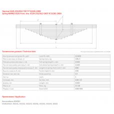 1 лист ресс Камаз 6520-2912101/1 к рес 6520-2912012 (Ч/Б), 690000053