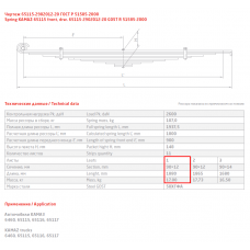 1 лист ресс Камаз 65115-2902015-20 пер с втулкой, 690004123