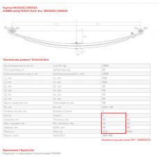 1 лист ресс Scania 903202SC-2902101-10 перед, 690004033