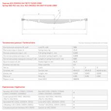12 лист ресс УАЗ 452-2902112 перед, 690004717