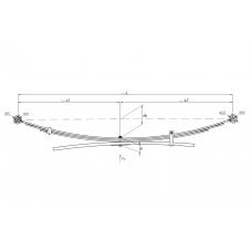 1 лист ресс Nissan Navara 600804NS-2912101-10 зад (2.5DCi/3.0DCi 05/KING CAB), 690004828