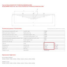 1 лист ресс Камаз 55111-2912101-02 ПП зад, 690000170