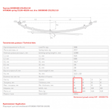1 лист ресс Hyundai 600806HD-2912101-10 зад, 690004296