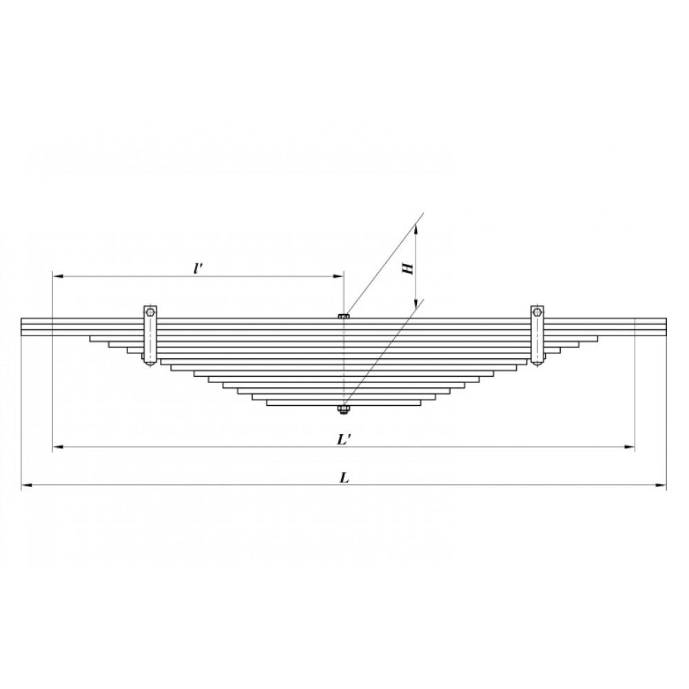 рессора Краз 525-2902012-Б1 зад (15 л), 690000211