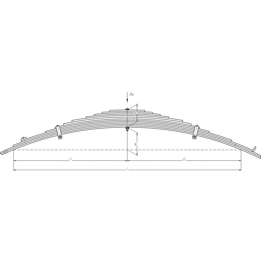 рессора МАЗ 504В-2902012-01 перед, 690000249