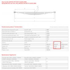 2 лист ресс УАЗ 452-2902016-01 перед, 690000307