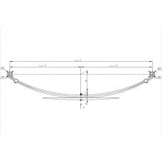 рессора прицеп 23490-2912012 (3-х лист, усил) зад (для прицепа и пикап LADA) , 690004739