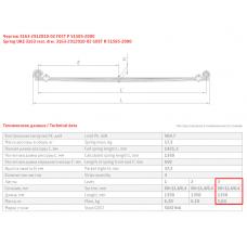 3 лист ресс УАЗ 3163-2912050-20 с/х зад (отверстия на хомутах), 690004315
