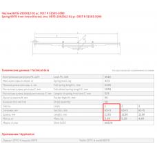 1 лист ресс прицеп 887Б-2902015 с втулкой, 690004895
