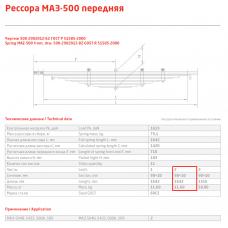2 лист ресс МАЗ 500А-2902102-10 перед, 690000330