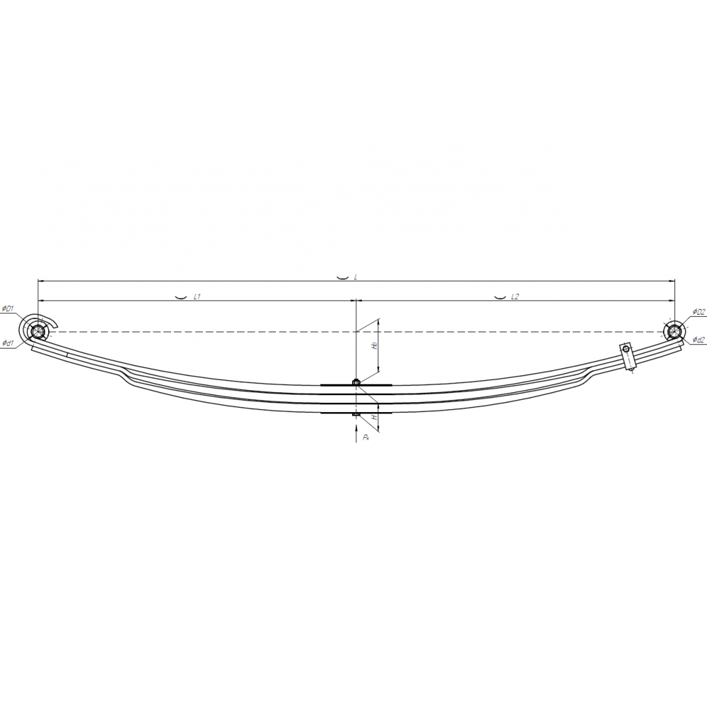 3 лист ресс Камаз 5490-2902050-15 перед с/х, 690005050
