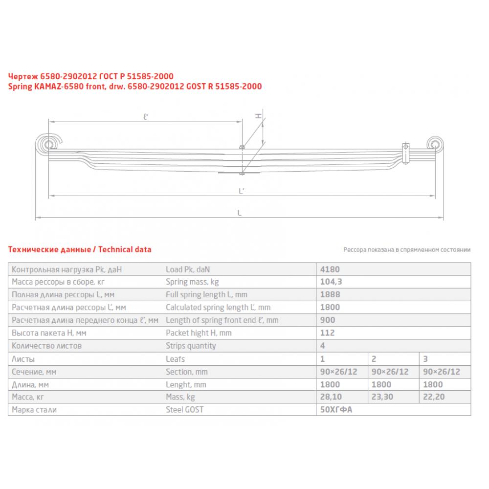 2 лист ресс Камаз 6580-2902102-20/1 (Б), 690004722