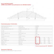 1 лист ресс Scania 902510SC-2912101 зад, 690003542