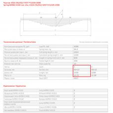 1 лист ресс Камаз 4310-2912101-02 ПП зад, 690004444