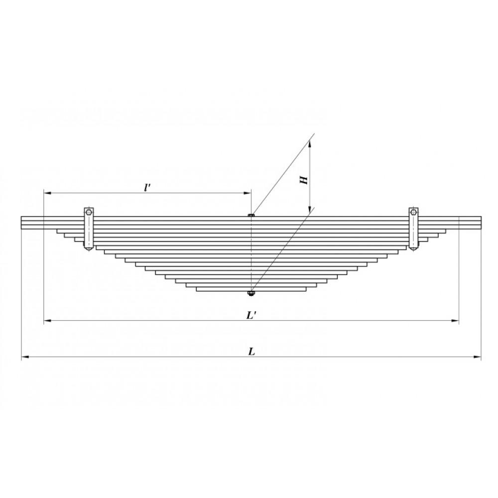 Рессора МАЗ 5516-2912012/1 краз 6505 18л (Б), 690000243