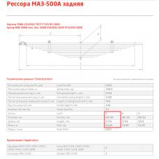 1 лист ресс МАЗ 500А-2912101-10 зад, 690000073