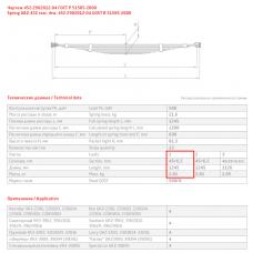 1 лист ресс УАЗ 452-2902015-01 перед, 690000039