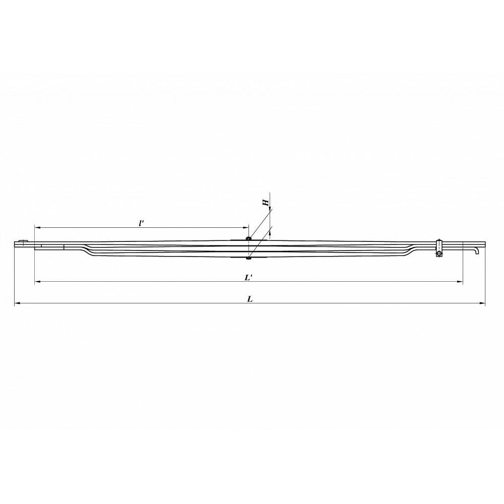 рессора МАЗ 64222-2902012-10 перед (3-х лист), 690000285