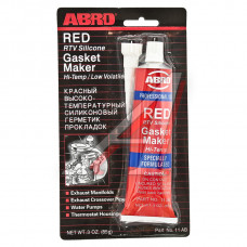 Герметик красный силиконовый высокотемпературный 85г ABRO, A11R-CH-R-S