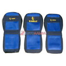 Чехол на сидения КАМАЗ 3 низких (гобелен, сетка) синий - Качество, 485