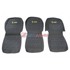 Чехол на сидения КАМАЗ 3 низких (гобелен) серый - Качество, 482