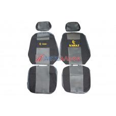 Чехол на сидения КАМАЗ Евро (65116) серый (2высок.,2подгол)(гобелен, иск.кожа, сетка) - Качество, 467