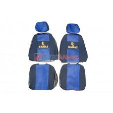 Чехол на сидения КАМАЗ Евро (65116) синий (2высок.,2подгол)(гобелен, иск.кожа, сетка) - Качество, 469