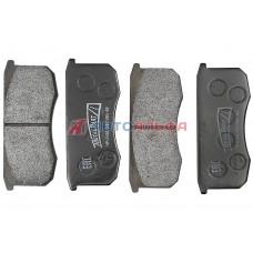 Колодка тормозная УАЗ диск. торм. передняя (к-т 4 шт) (бесшумная) (полутвердая смесь) - MetalPart, MP-3160-3501090-88